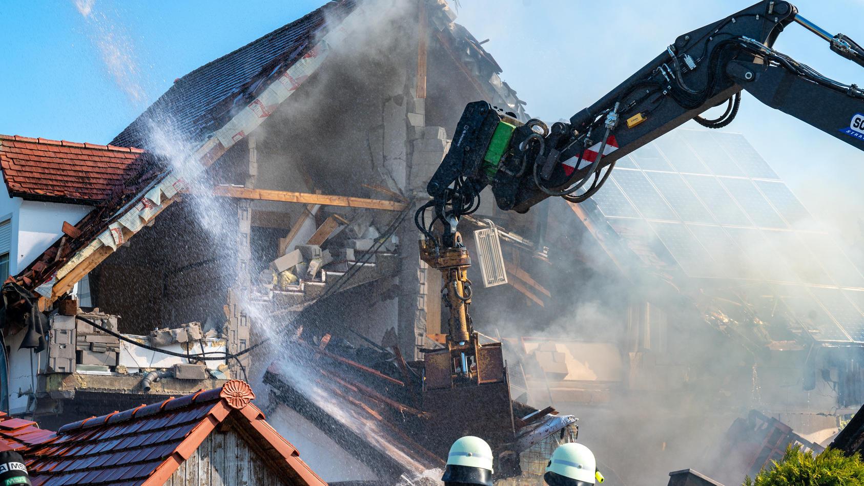 Explosion in Wohnhaus in Oberbayern - Leiche gefunden