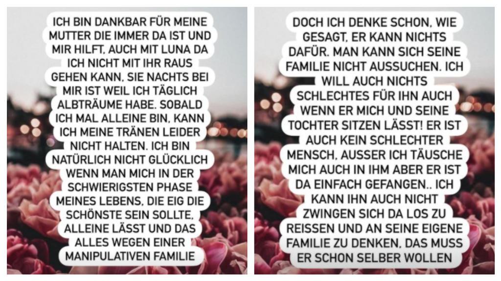 """Yeliz Koc behauptet in ihrer Instagram-Story, dass Jimi Blue Ochsenknecht von seiner Familie """"manipuliert"""" wird."""