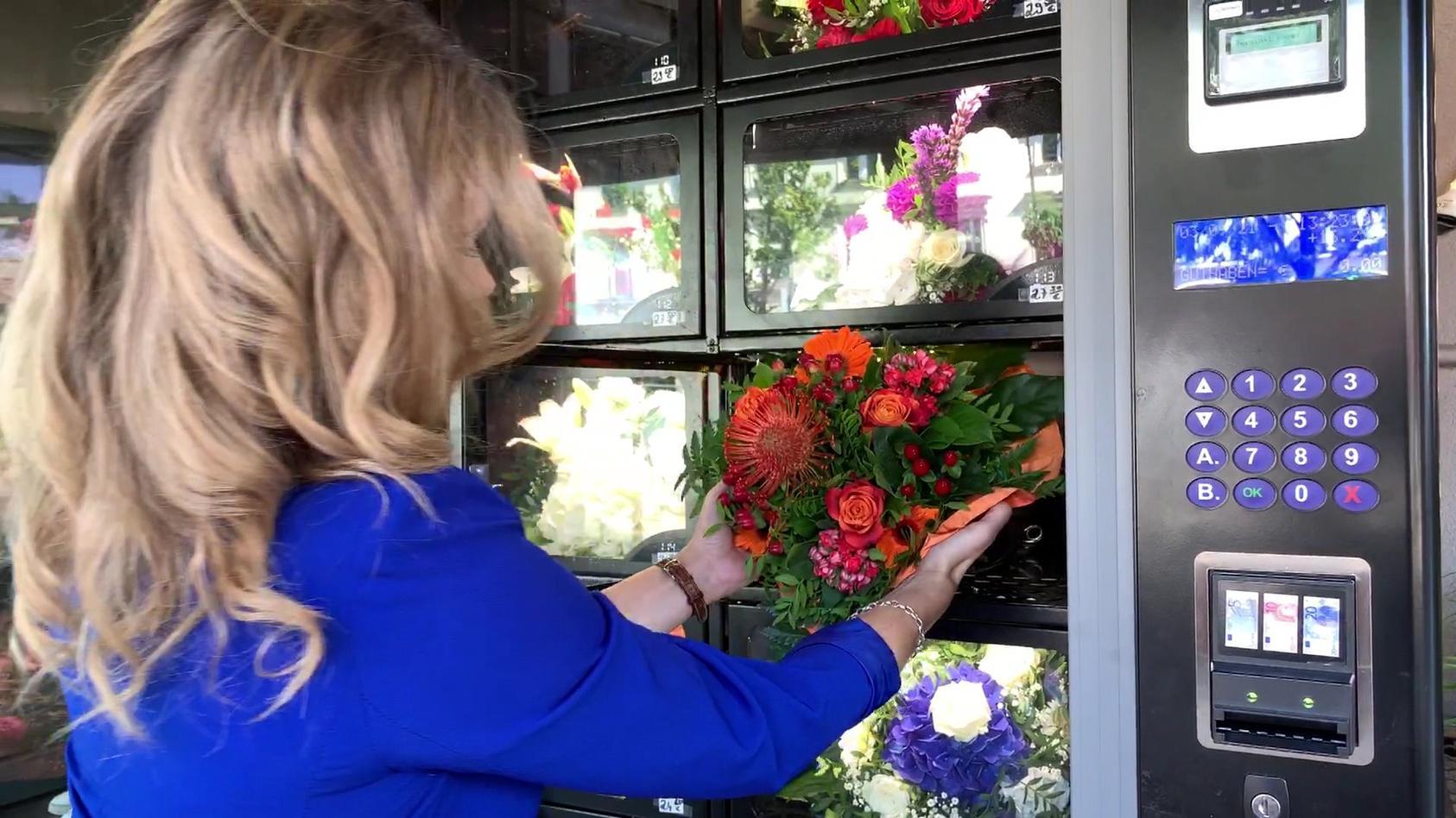 RTL hat sich die Blumen-Automaten mal genauer angesehen.