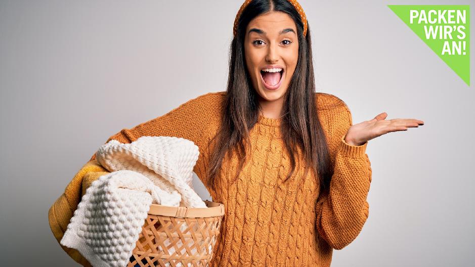 Auch ohne Wäschetrockner kann Ihre Wäsche schnell trocken werden.