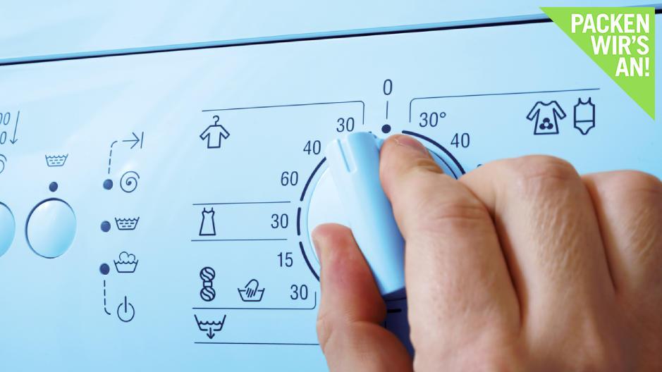 Öfter mal runterschalten: Schon 10 Grad weniger können viel bewirken.