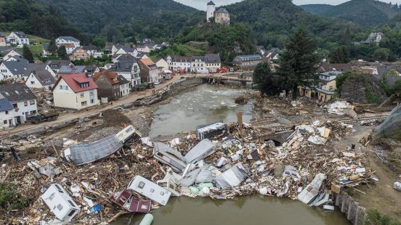 Mitte Juli hatte extremes Wetter einen großen Teil des Ahrtals zerstört.