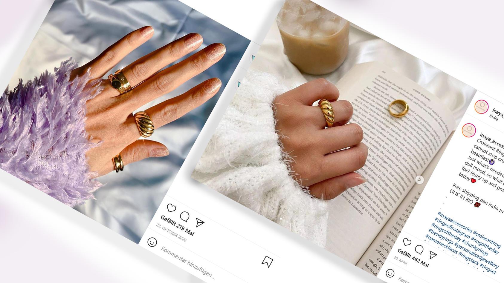 Croissant-Ringe: Darum liegen diese Accessoires momentan im Trend.