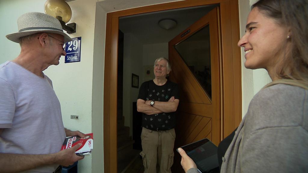 SPD-Wahlkampf von Tür zu Tür