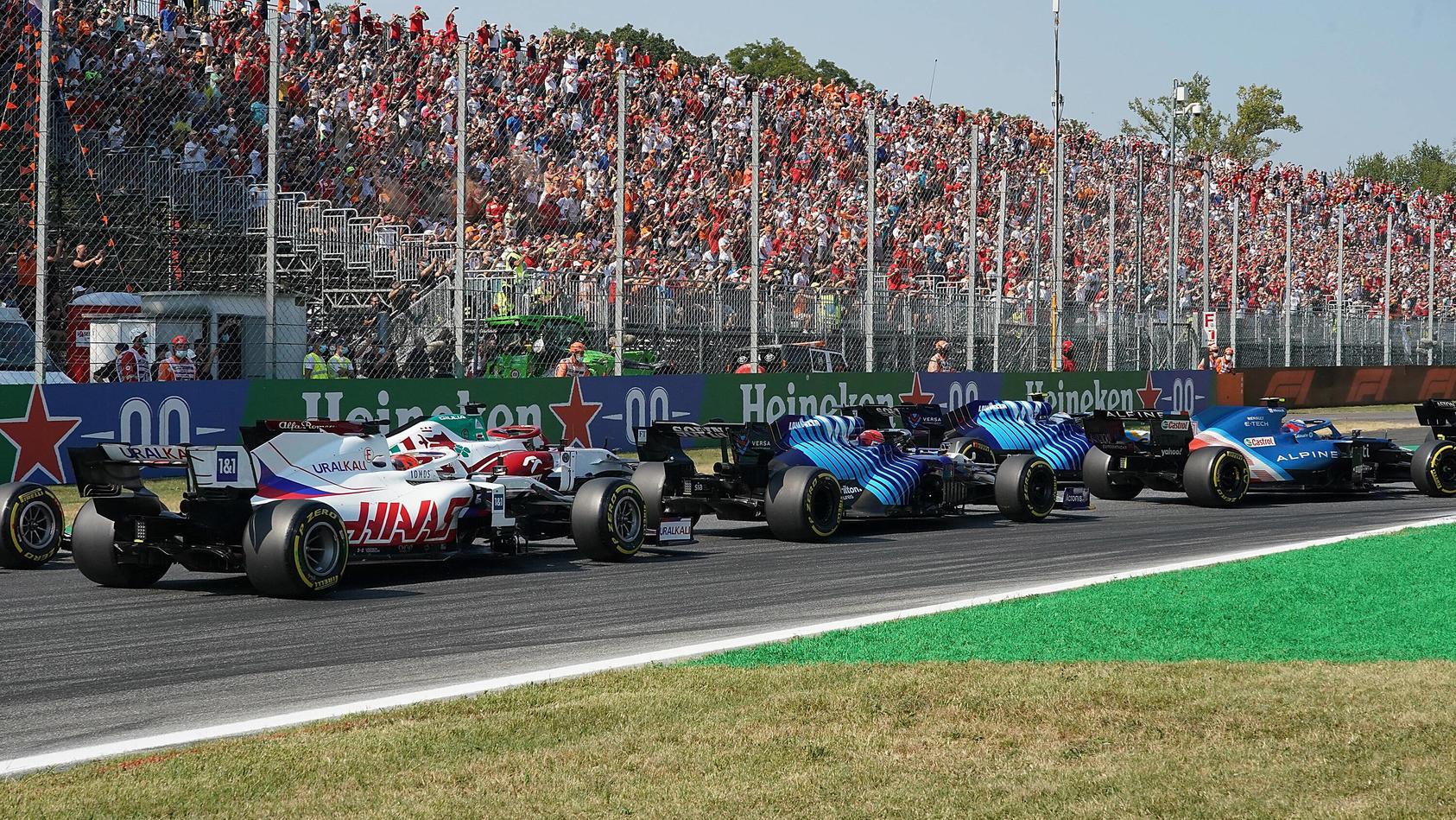 In Monza waren weniger Fans live dabei als erwartet.