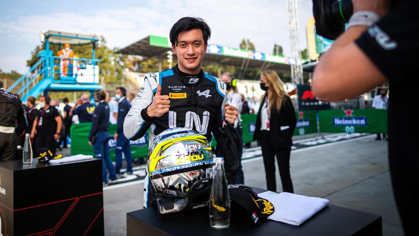 Zhou Guanyu fährt seit 2019 in der Formel 2, könnte 2022 in die Formel 1 aufsteigen