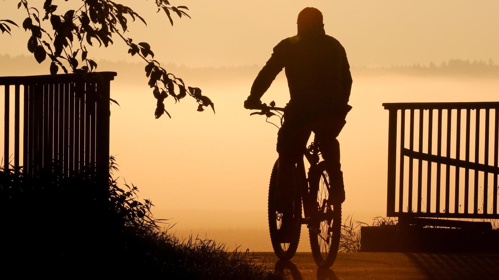 Ein Fahrradfahrer hat in Frankfurt einen Mann angefahren und bestohlen. (Symbolbild)