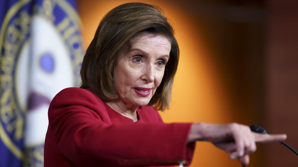 In this Sept. 8, 2021 photo, Speaker of the House Nancy Pelosi, D-Calif., meets with reporters to discuss President Joe Biden's domestic agenda at the Capitol in Washington. House Democrats are unveiling a sweeping proposal for tax hikes on big corpo