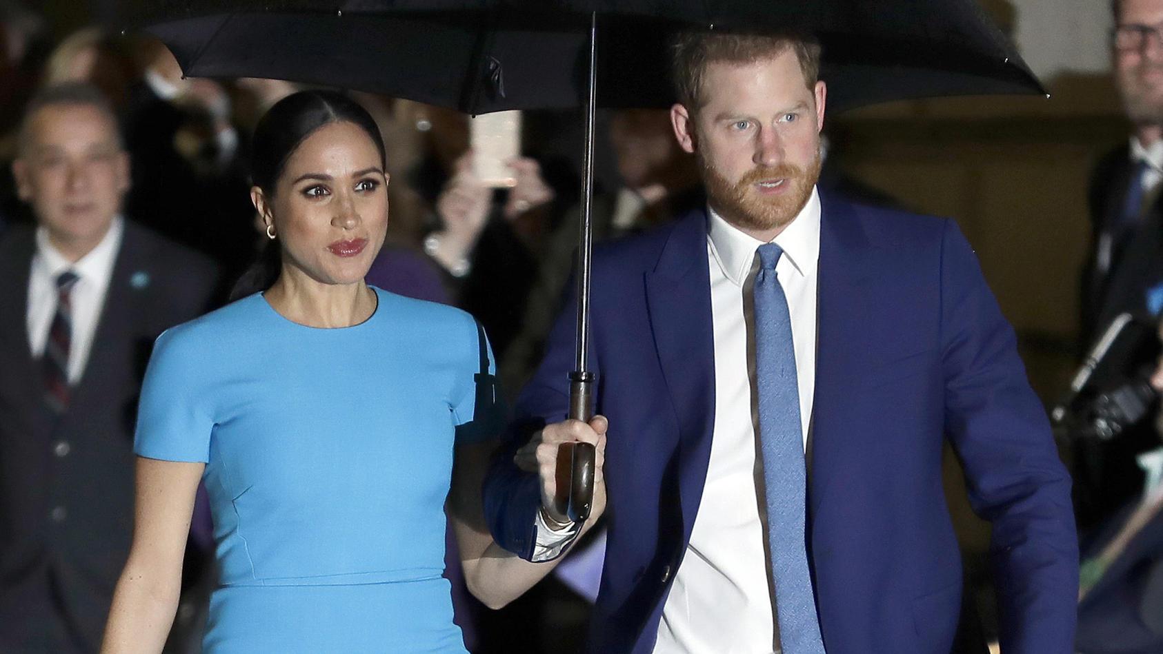 Prince Harry und Meghan bei den jährlichen Endeavour Fund Awards in London im März 2020.