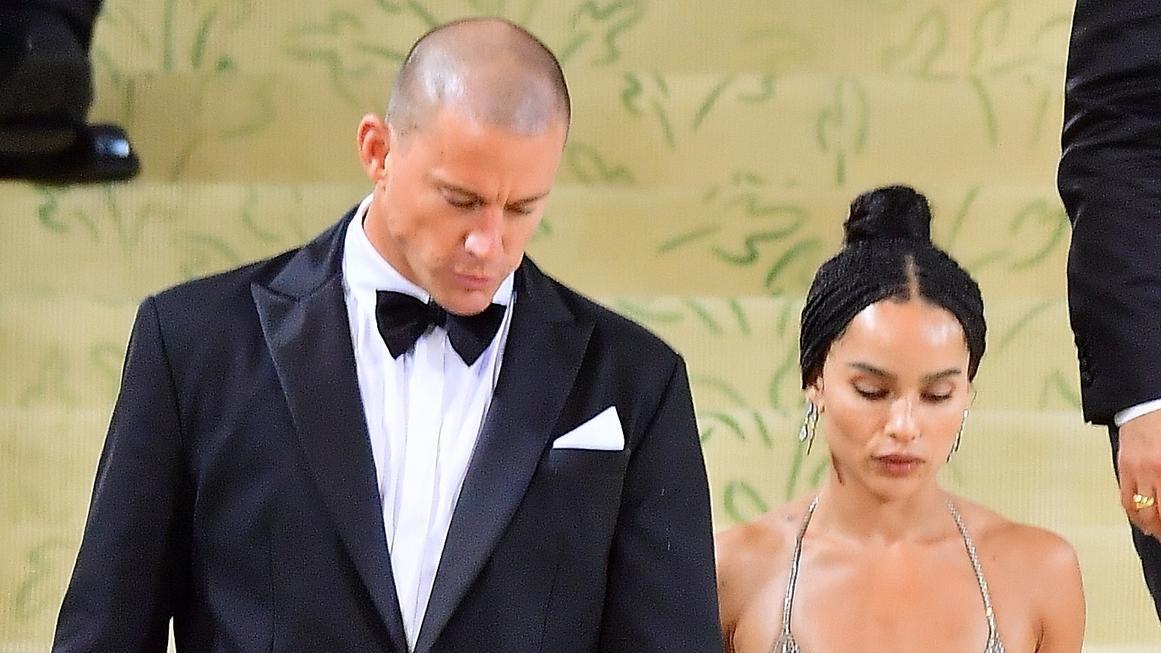 Channing Tatum und Zoë Kravitz legen bei der Met Gala einen gemeinsamen Auftritt hin.