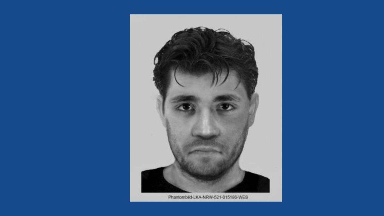 Mit diesem Phantombild fahndet die Polizei Düsseldorf nach dem mutmaßlichen Vergewaltiger.