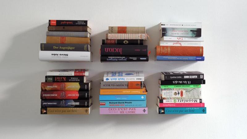 Bücher sind aufeinander gestapelt. Foto: picture alliance / dpa/Illustration