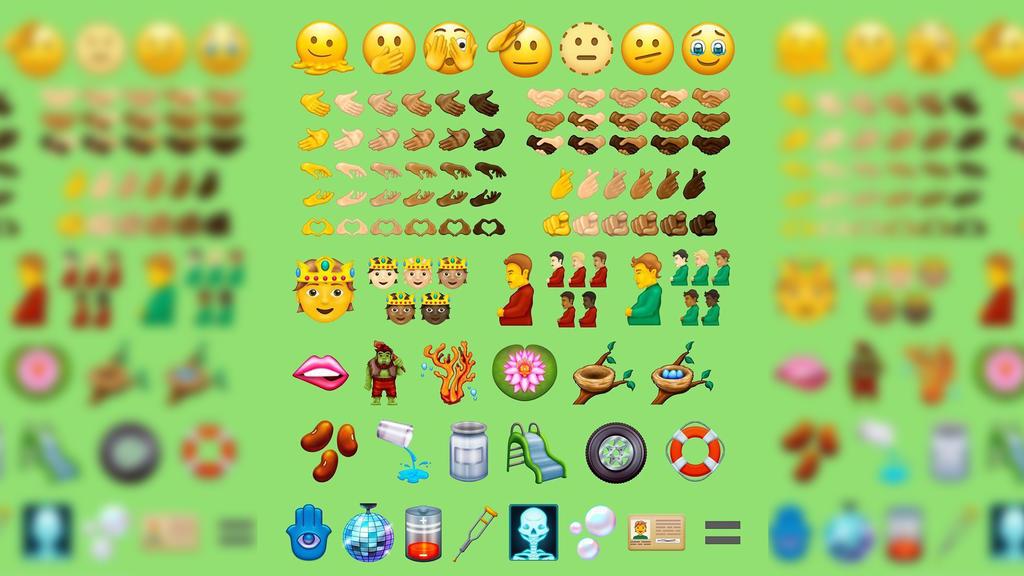 Viele neue Emojis. Unter anderem ein schwangerer Mann