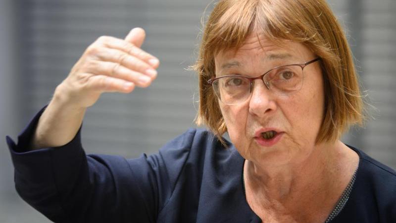 Ursula Nonnemacher (Bündnis 90/Die Grünen)spricht. Foto: Soeren Stache/dpa-Zentralbbild/dpa/Archivbild