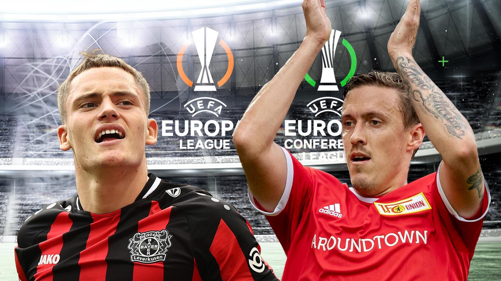 Florian Wirtz ist mit Bayer Leverkusen, Max Kruse mit Union Berlin im Europapokal gefordert