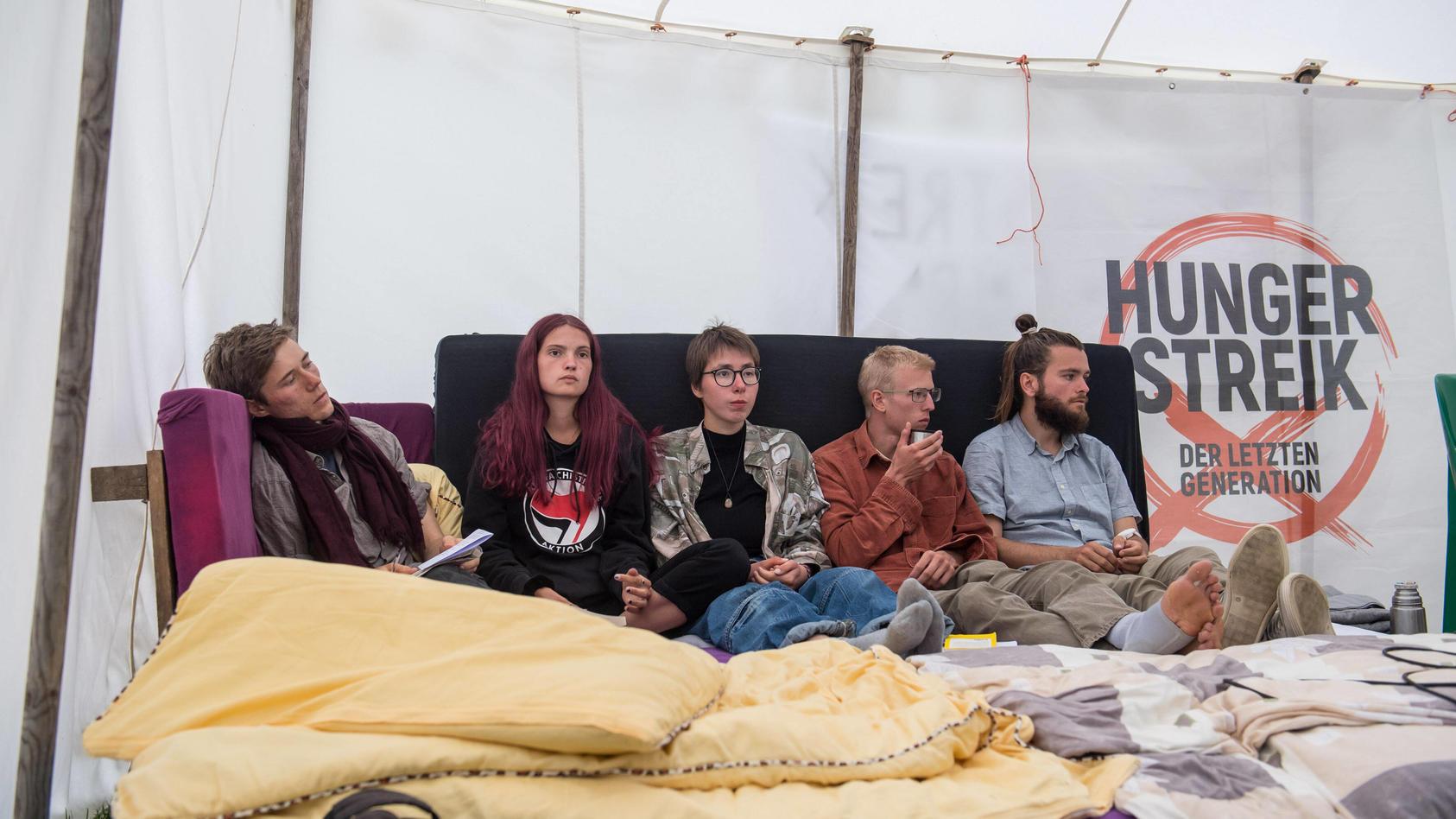 Am Donnerstag war Tag 18 des Hungerstreiks der Klimaaktivisten.