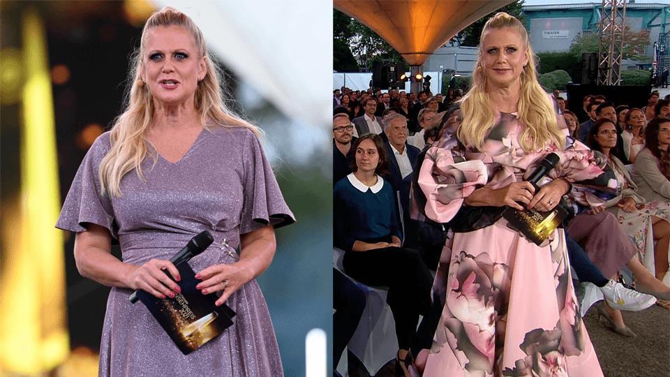 Barbara Schöneberger schlüpft plötzlich in ein neues Kleid!