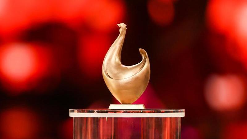 """Eine """"Goldene Henne"""" steht auf die Bühne. Foto: Jan Woitas/dpa-Zentralbild/dpa/Archivbild"""