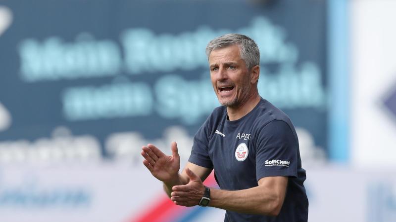 Trainer Jens Härtel. Foto: Danny Gohlke/dpa/Archivbild