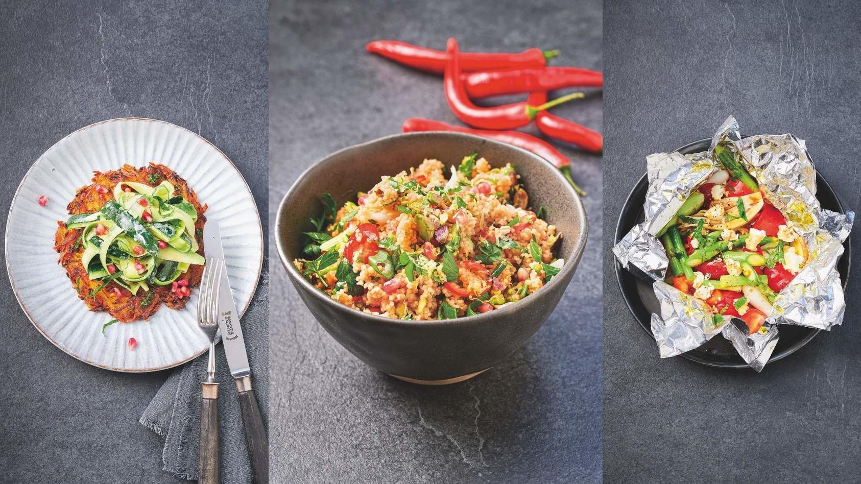 Drei leckere vegetarische Gerichte von Steffen Henssler auf einen Blick.