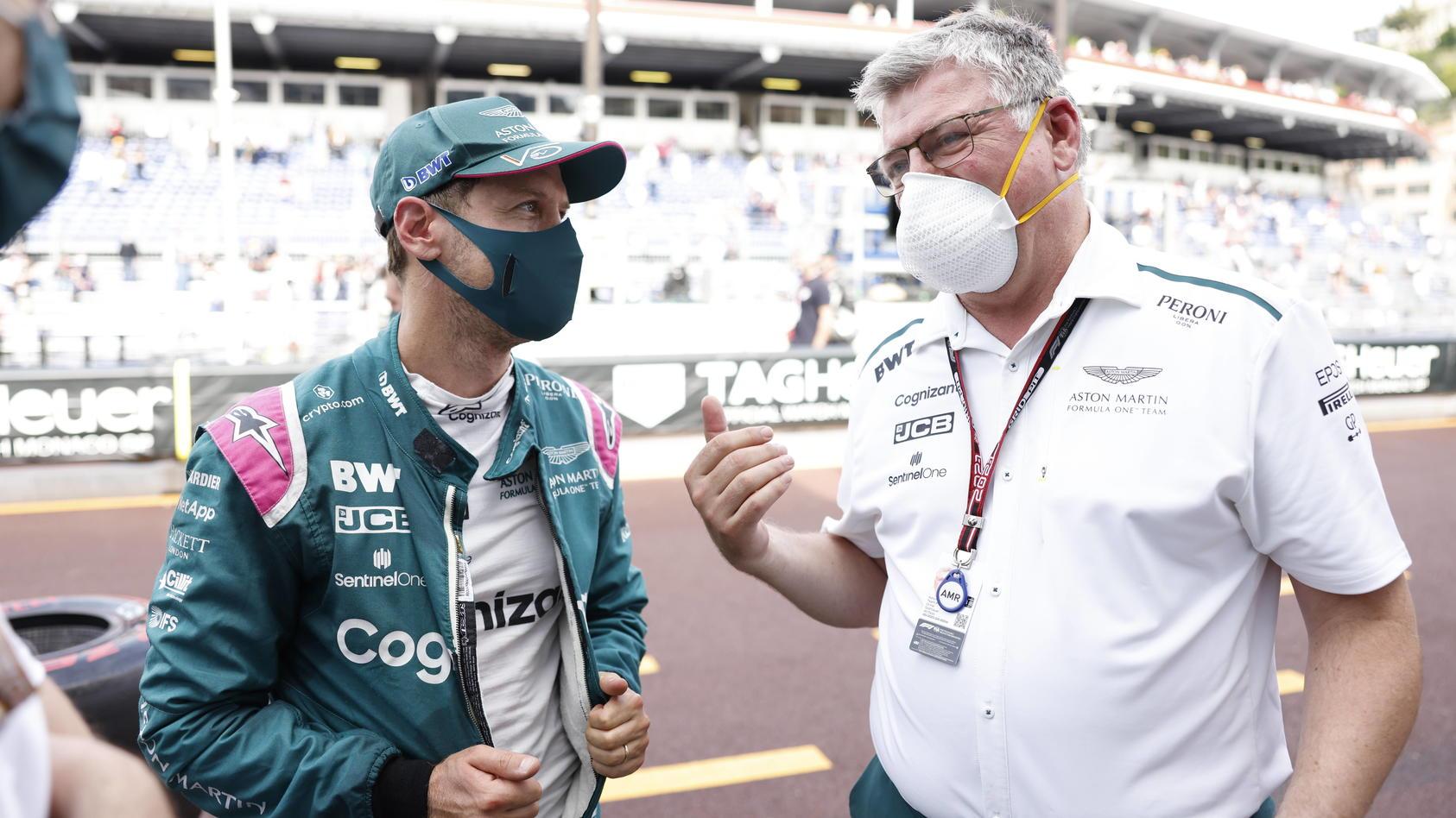 Sebastian Vettel und Otmar Szafnauer sind auch 2022 ein Team