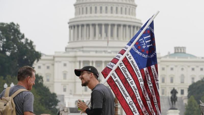Demo-Teilnehmer inWashington. Foto: Brynn Anderson/AP/dpa