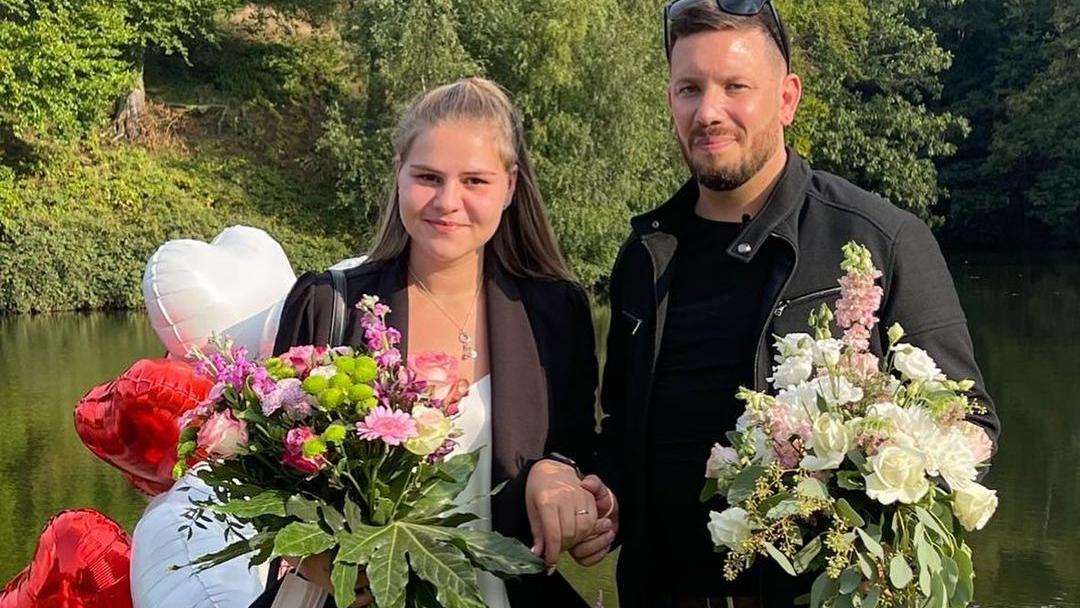 Sylvana Wollny und Florian Köster sind verlobt