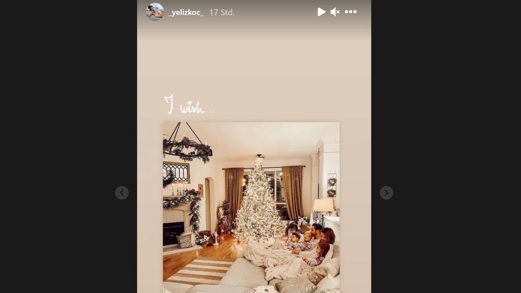 """""""I wish"""" - kommentiert Yeliz diesen Winter-Familientraum."""