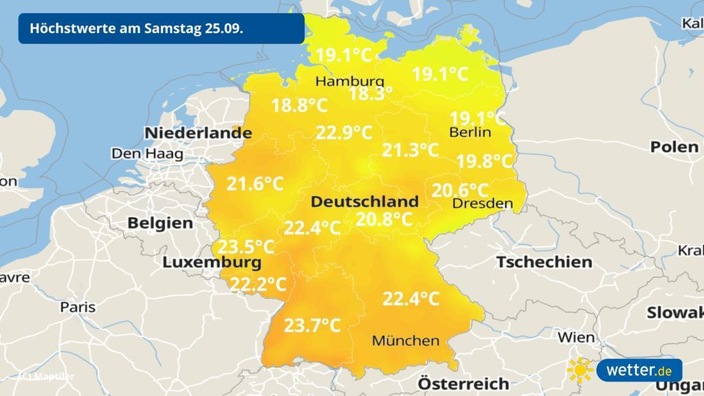 Wie warm wird es am Wochenende?