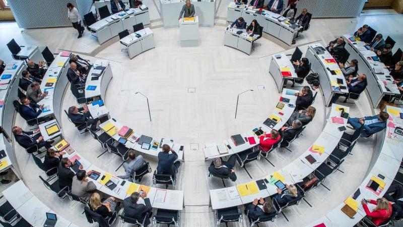 Die Abgeordneten im Landtag von Schwerin debattieren bei der Landtagssitzung. Foto: Jens Büttner/zb/dpa