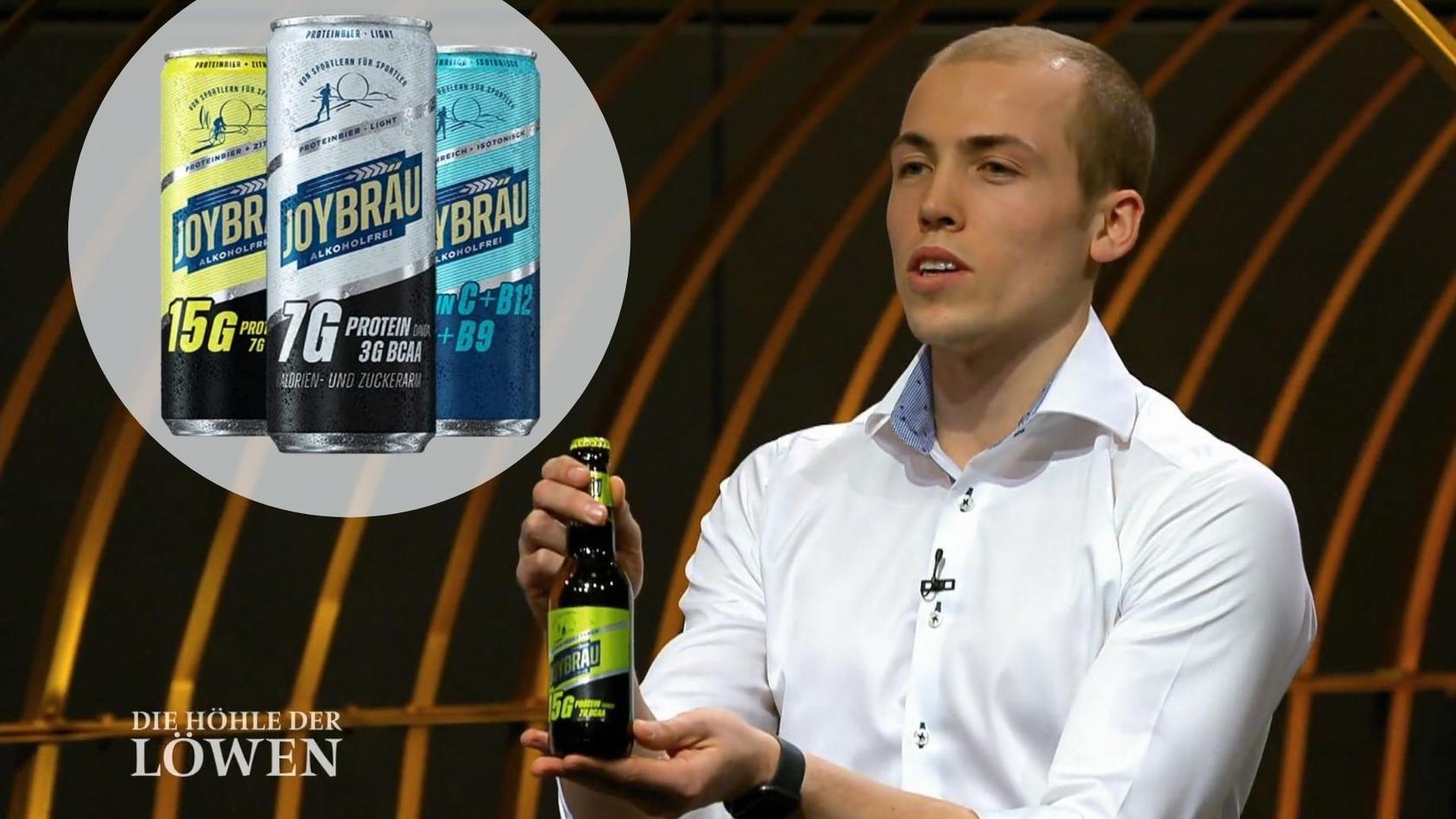 Bei DHDL kam das Proteinbier von JoyBräu gut an.