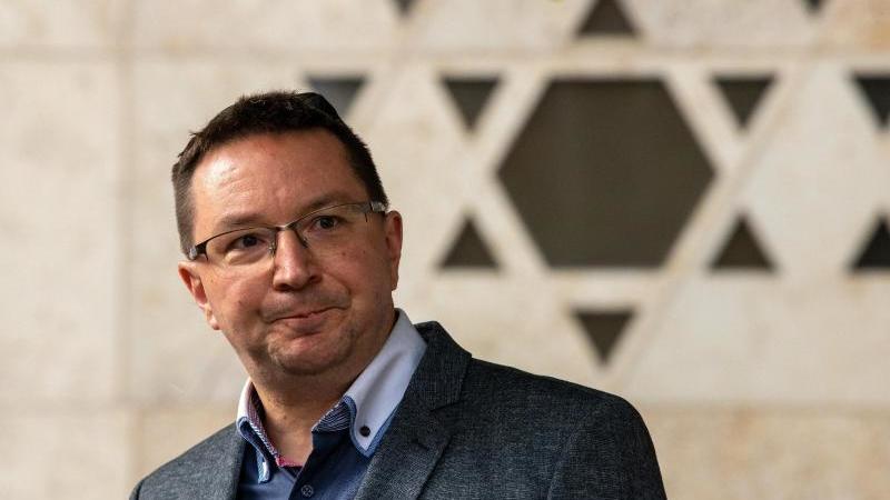Michael Blume, Antisemitismusbeauftragte der Landesregierung Baden-Württemberg, spricht in Ulm. Foto: Stefan Puchner/dpa/archivbild