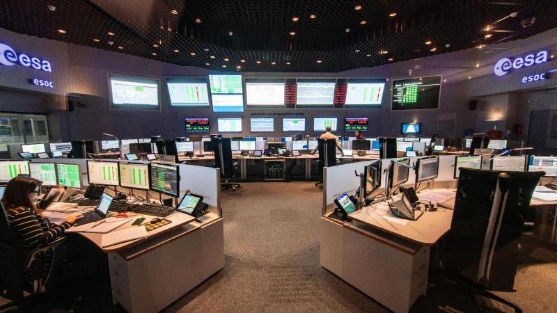 Das ESOC-Kontrollzentrum der europäischen Weltraumagentur ESA. Foto: Frank Rumpenhorst/dpa/Archivbild
