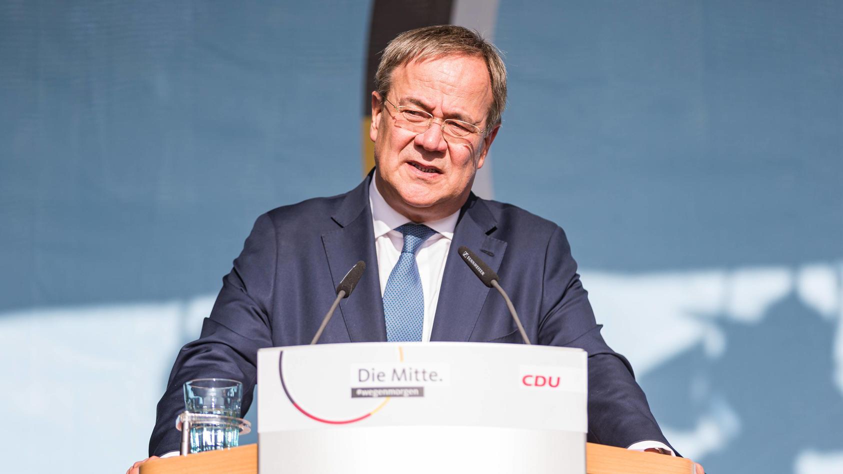 Armin Laschet auf Wahlkampftour in Fulda.