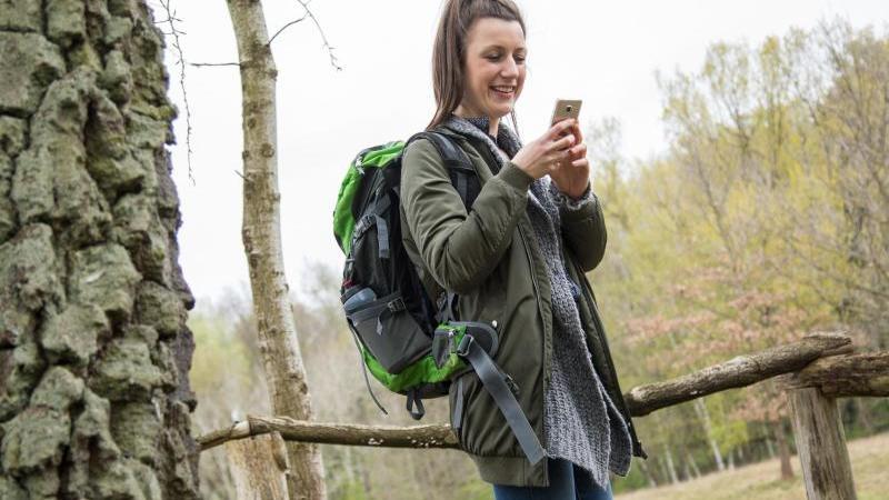 Das Handy verrät, wo es langgeht: Wander-Apps helfen bei der Tourenplanung und Navigation unterwegs. Foto: Christin Klose/dpa-tmn