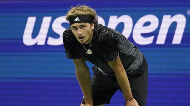 Alexander Zverev bei den US Open. Foto: Elise Amendola/AP/dpa/Archiv