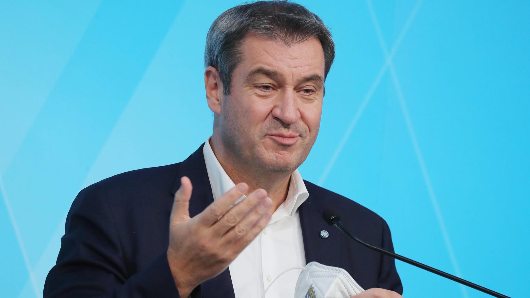 Pressekonferenz von Ministerpräsident Dr. Markus Söder im Prinz-Carl-Palais Ministerpräsident Dr. Markus Söder, München