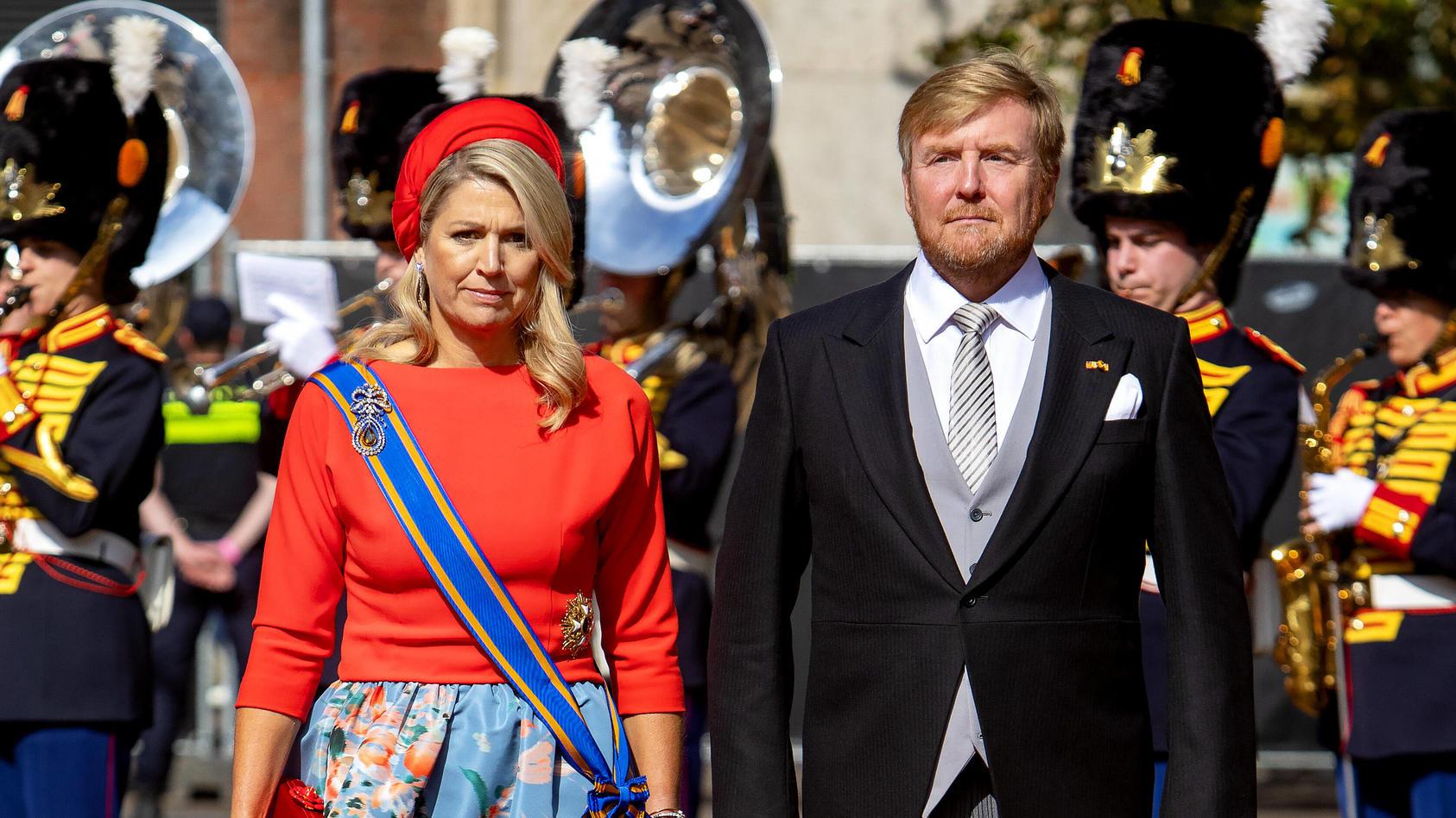Königin Máxima und König Willem-Alexander während des Prinsjesdag 2021