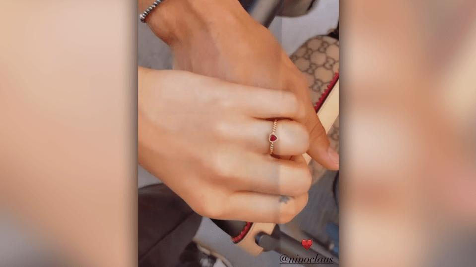 Steht dieser Ring für eine Verlobung von Cheyenne Ochsenknecht und Freund Nino?