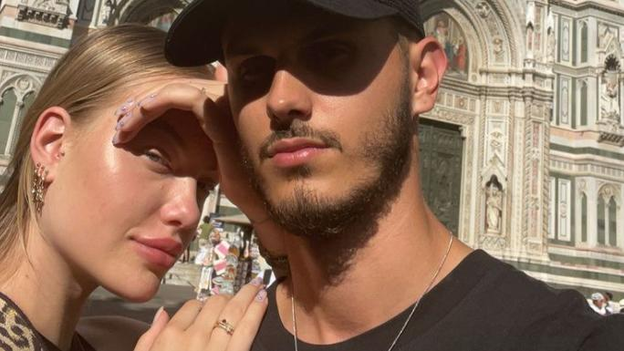 Cheyenne Ochsenknecht mit Freund Nino in Italien.