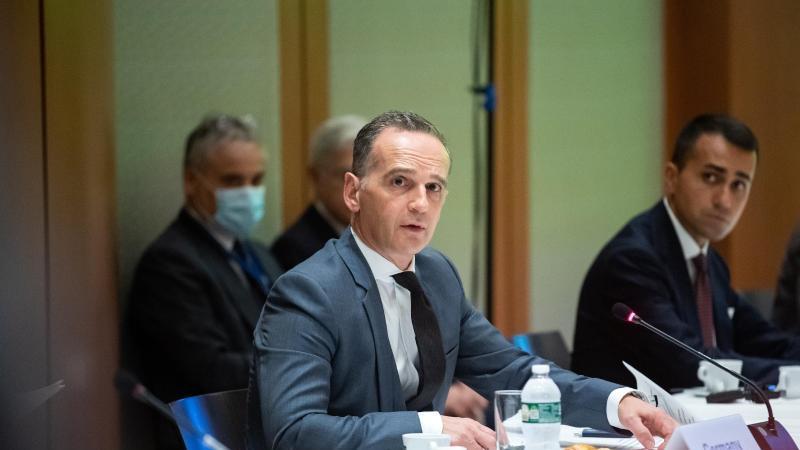 Bundesaußenminister Heiko Maas eröffnet die Libyen-Konferenz am Rande der UN-Generalversammlung in New York. Foto: Bernd von Jutrczenka/dpa