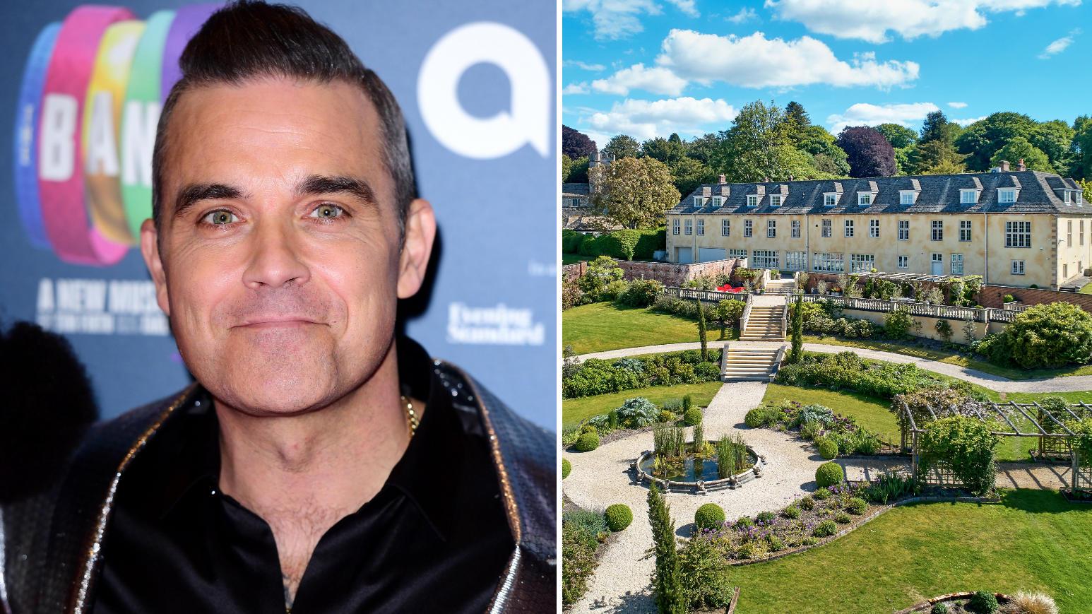 Robbie Williams verkauft seinen Landsitz im Südwesten Englands.