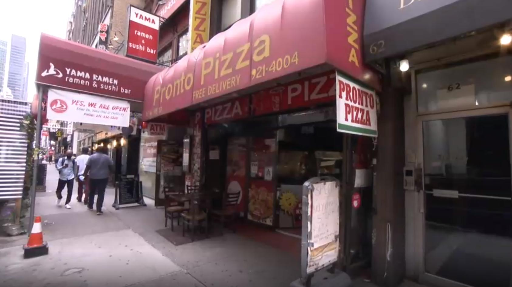 In dieser Pizzabude wurde das Millionenlos verkauft