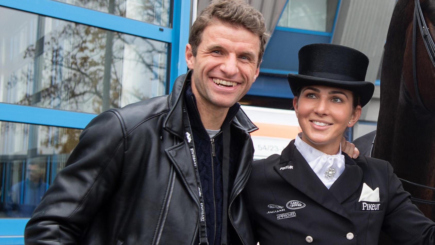 Dressurreiterin Lisa Müller und Ehemann Thomas Müller.