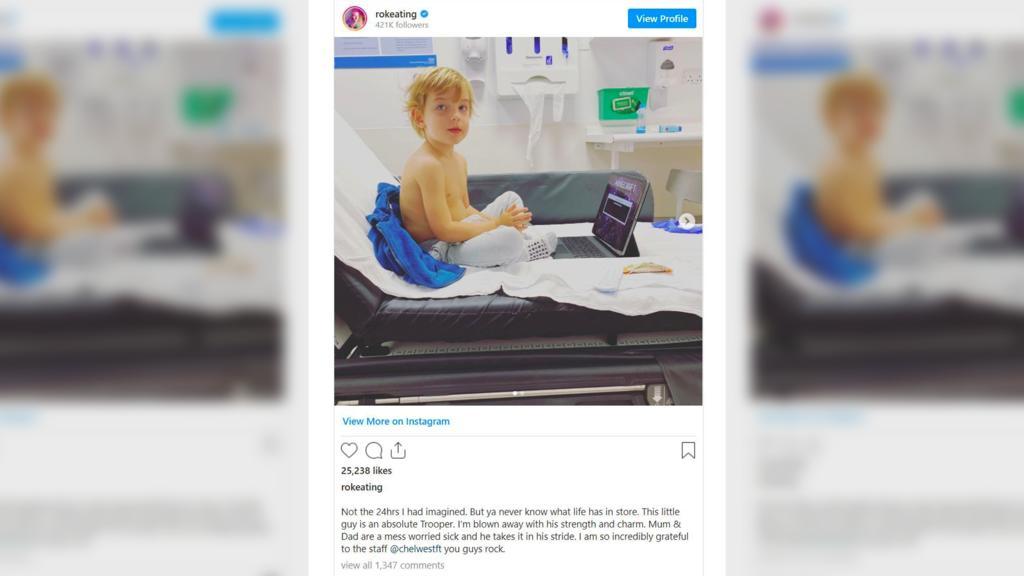 Ronan Keatings Sohn Cooper im Krankenhaus