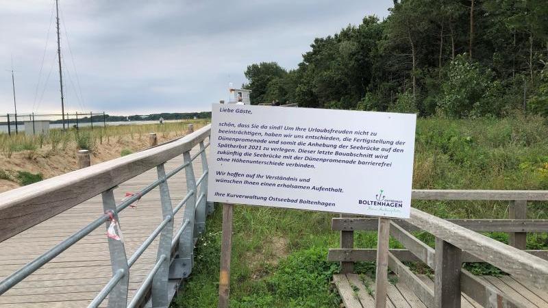Die neue Dünenpromenade in Boltenhagen ist seit diesem Sommer ein neues Wahrzeichen des Ostseebades. Foto: Benjamin Haller/RMCV HH/dpa/Archivbild