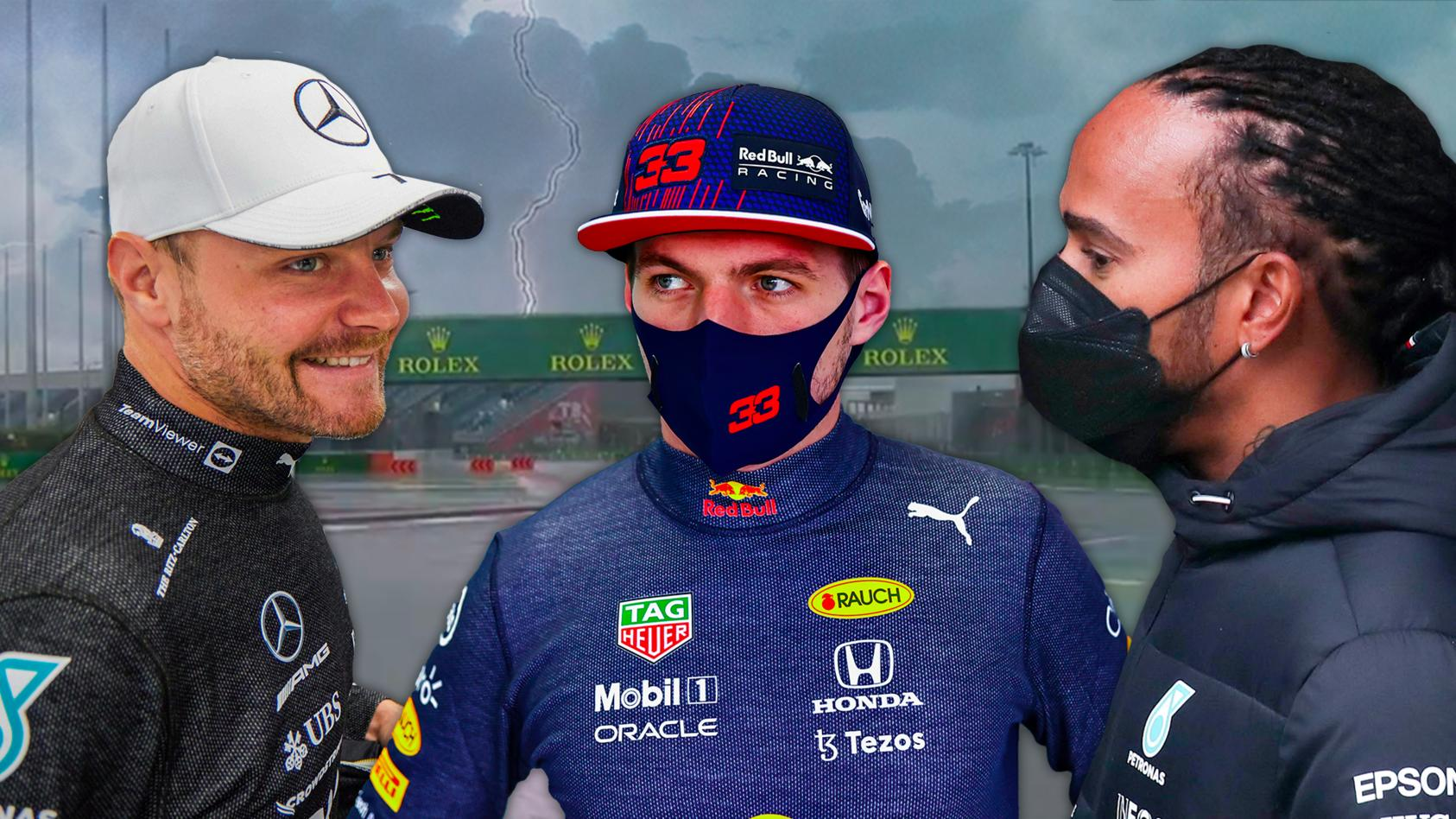 Valtteri Bottas, Max Verstappen oder Lewis Hamilton - wer hat im Regen von Sotschi den Durchblick?