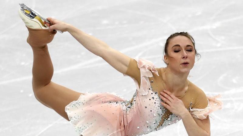 Nathalie Weinzierl aus Deutschland in Aktion. Foto: Sergei Grits/AP/dpa