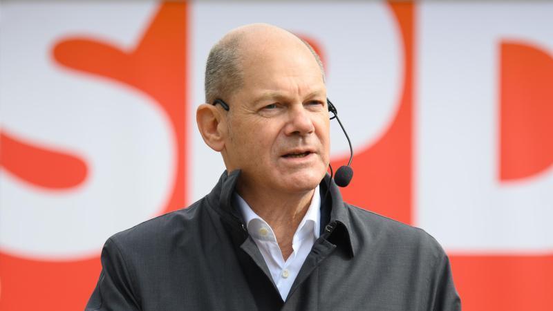 SPD-Kanzlerkandidat Olaf Scholz präferiert eine Koalition mit den Grünen. Foto: Soeren Stache/dpa-Zentralbild/dpa