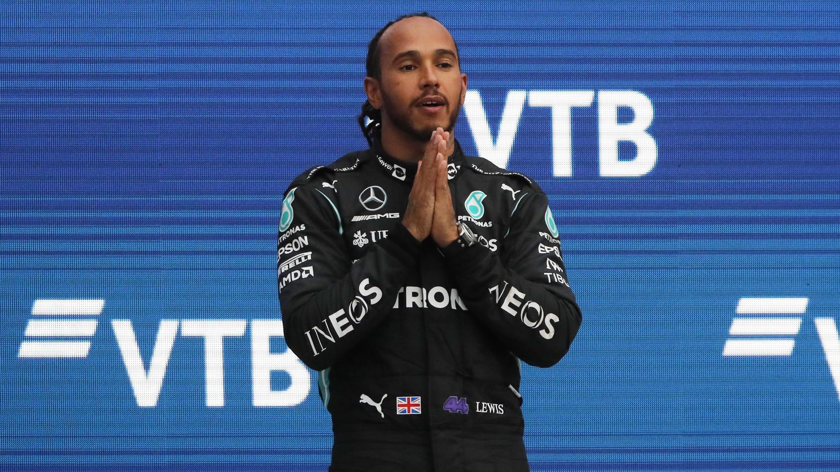 Wahnsinn! Lewis Hamilton gewann in Russland zum 100. Mal ein Formel-1-Rennen.